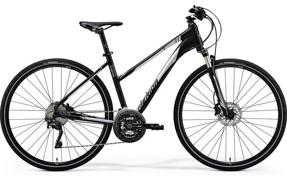 MERIDA  CROSSWAY XT-EDITION Lady Matt Black(Shiny Silver)2018